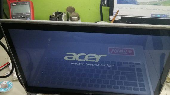 Laptop acer V5 431 pakai baterai tidak bisa ON