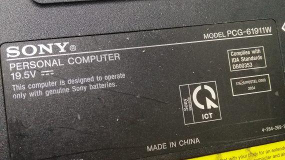 Sony Vaio PCG61911 Mati Total